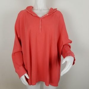 Avenue Size 26/28 Waffle Knit Pullover Hoodie